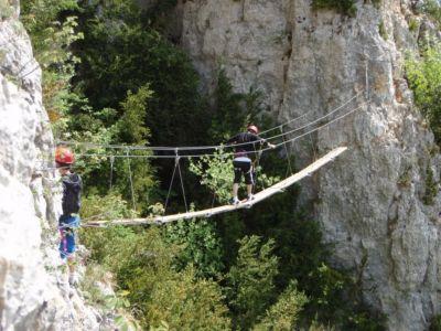 Aventure Via Ferrata / Canyoning dans le Jura à Saint Claude