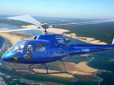 Vol en Hélicoptère - Découverte de la dune du Pilat et du Bassin d'Arcachon