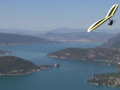 Baptême de deltaplane au Lac d'Annecy – Col de la Forclaz