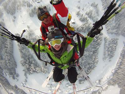 Baptême Parapente à ski à La Clusaz